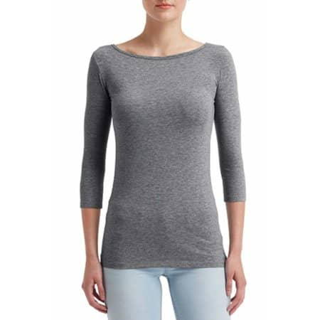 Women`s Stretch 3/4 Sleeve Tee von Anvil (Artnum: A2455L