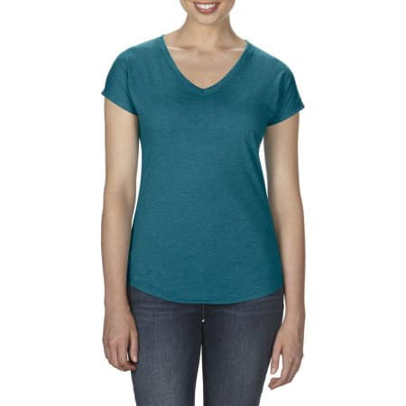 Women`s Tri-Blend V-Neck Tee von Anvil (Artnum: A6750VL