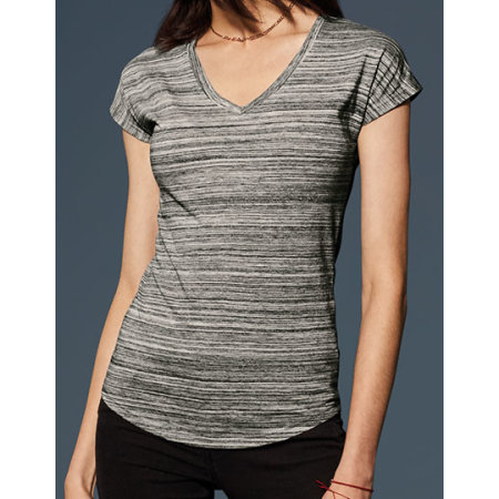 Women`s Tri-Blend V-Neck ID Tee von Anvil (Artnum: A675VIDL