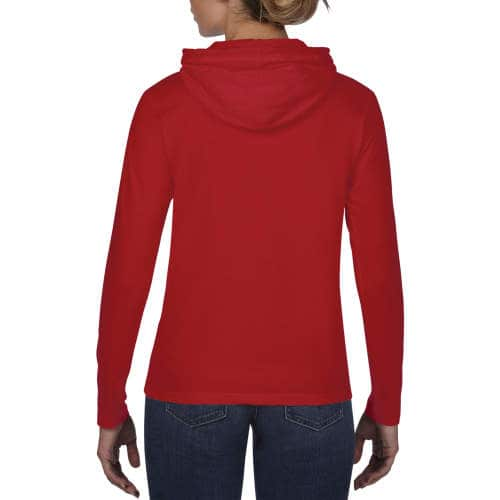 Anvil - Women`s Lightweight Long Sleeve Hooded Tee