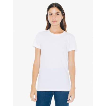 Fine Jersey Short Sleeve Womens T von American Apparel (Artnum: AA2102