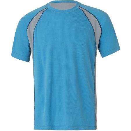 Unisex Colorblock Short Sleeve Tee von All Sport (Artnum: ALM1004