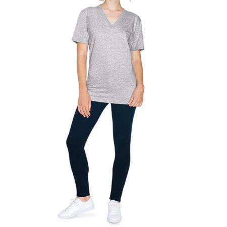 Unisex Fine Jersey V-Neck T-Shirt von American Apparel (Artnum: AM2456