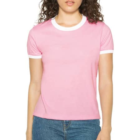 Women`s Poly-Cotton Ringer T-Shirt von American Apparel (Artnum: AM310W
