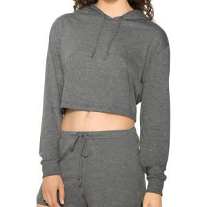 Women`s Tri-Blend Cropped Hoodie