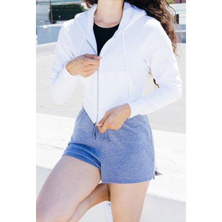 Women`s Flex Fleece Cropped Zip Hooded Sweatshirt von American Apparel (Artnum: AM397