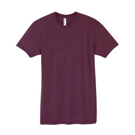 Unisex Tri-Blend Track T-Shirt von American Apparel (Artnum: AM401W