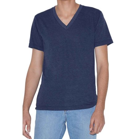 Unisex Tri-Blend Short Sleeve V-Neck T-Shirt von American Apparel (Artnum: AM461
