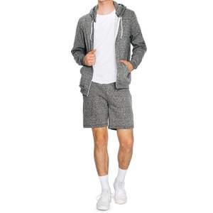 Unisex Mock Twist Zip Hooded Sweatshirt