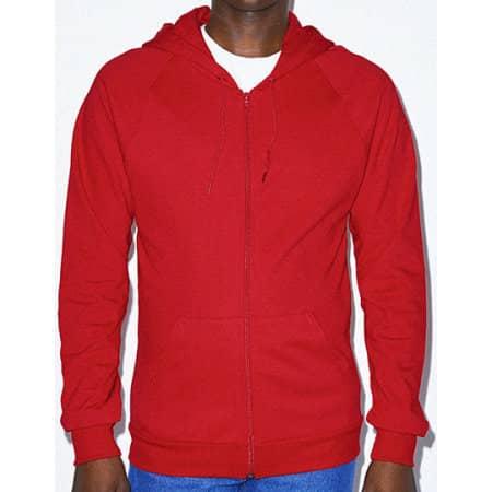 Unisex California Fleece Zip Hooded Sweatshirt von American Apparel (Artnum: AM5497
