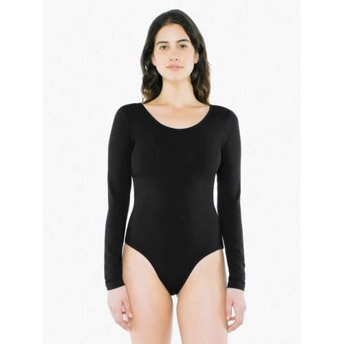 American Apparel - Women`s Long Sleeve Double U-Neck Bodysuit