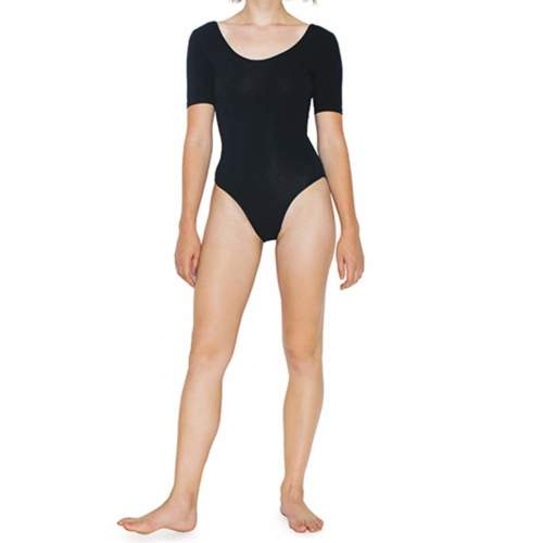 American Apparel - Women`s Jersey Short Sleeve Double U-Neck Bodysuit