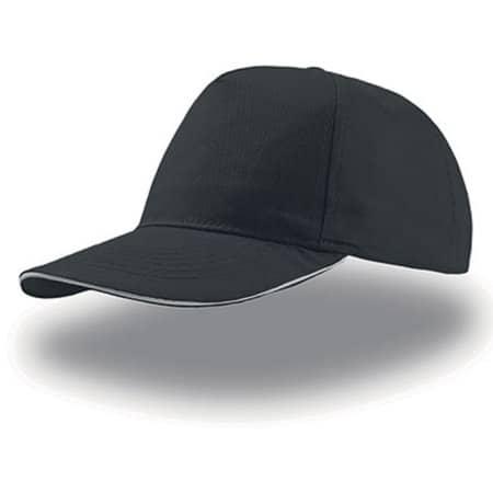 Start Five Sandwich Cap in Black|White von Atlantis (Artnum: AT500
