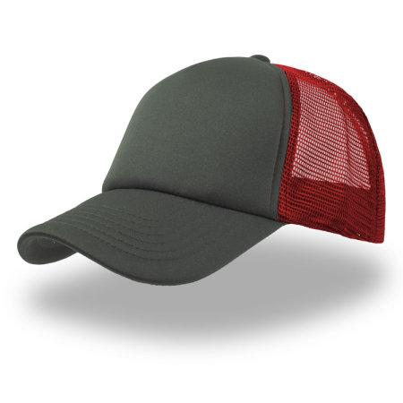 Rapper Cap in Grey|Red|Grey von Atlantis (Artnum: AT505