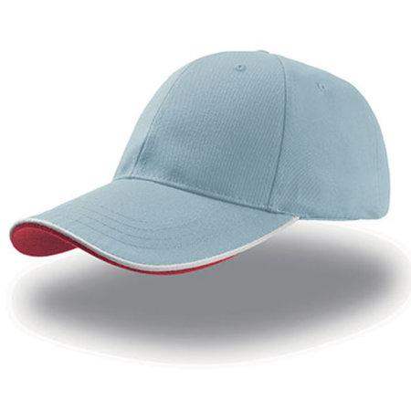 Zoom Piping Sandwich Cap in Light Blue|White|Red von Atlantis (Artnum: AT609