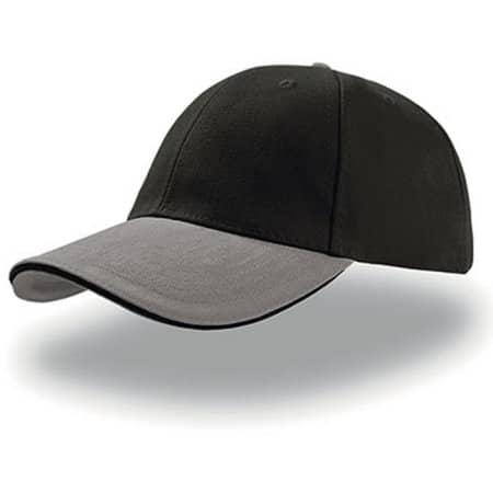 Liberty Sandwich Cap in Black|Grey|Black von Atlantis (Artnum: AT610