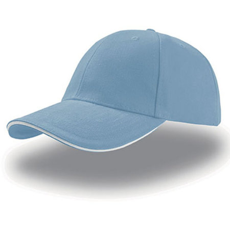 Liberty Sandwich Cap in Light Blue|White von Atlantis (Artnum: AT610