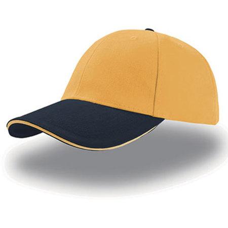 Liberty Sandwich Cap in Yellow Navy Yellow von Atlantis (Artnum: AT610