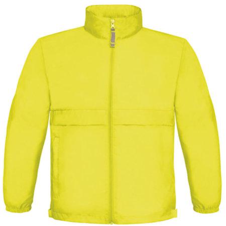 Jacket Sirocco / Kids in Ultra Yellow von B&C (Artnum: BCJK950