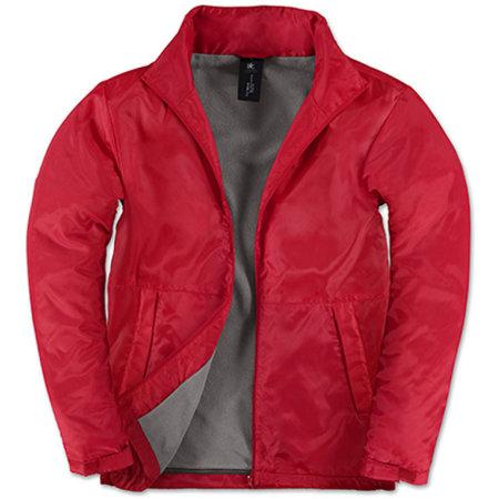 Jacket Multi-Active /Men in Red|Warm Grey von B&C (Artnum: BCJM825