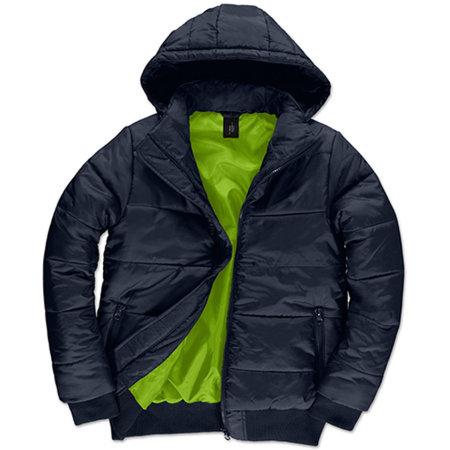 Jacket Superhood /Men in Navy Neon Green von B&C (Artnum: BCJM940