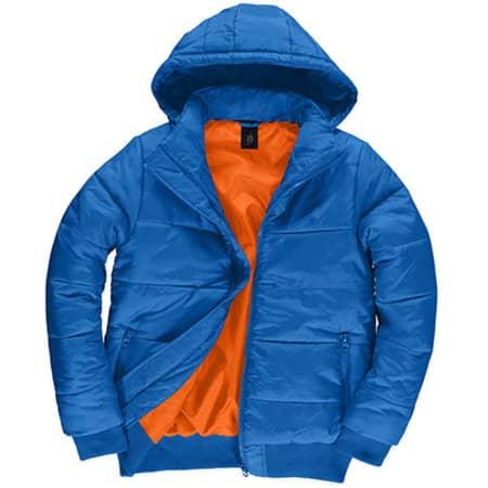 Jacket Superhood /Men in Royal Blue|Neon Orange von B&C (Artnum: BCJM940