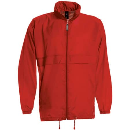 Jacket Sirocco /Unisex in Red von B&C (Artnum: BCJU800