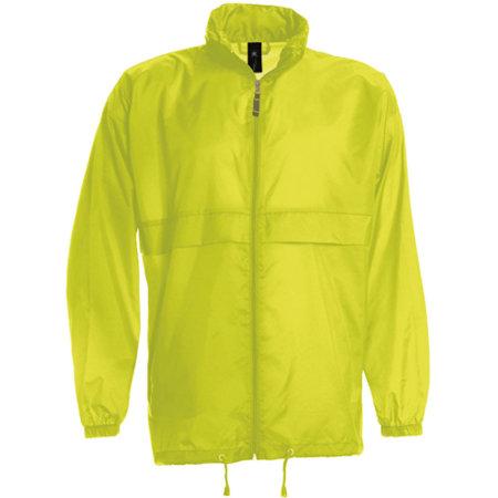 Jacket Sirocco /Unisex in Ultra Yellow von B&C (Artnum: BCJU800