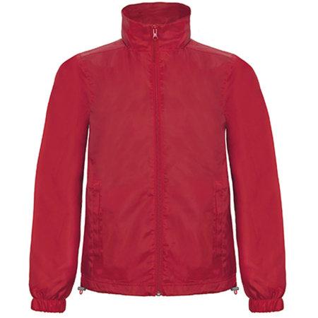 Windjacket ID601 in Red von B&C (Artnum: BCJUI60
