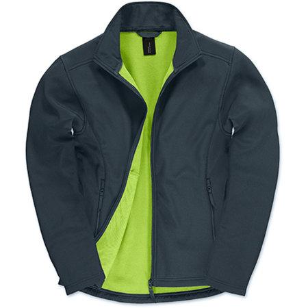 Jacket Softshell ID701 /Men in Navy Neon Green von B&C (Artnum: BCJUI62