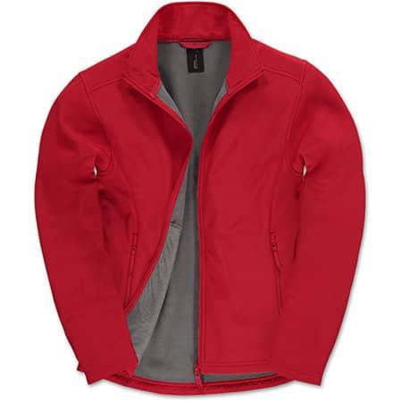 Jacket Softshell ID701 /Men in Red|Warm Grey von B&C (Artnum: BCJUI62