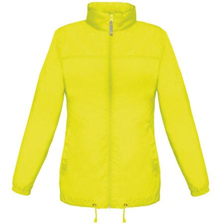 Jacket Sirocco /Women in Ultra Yellow von B&C (Artnum: BCJW902