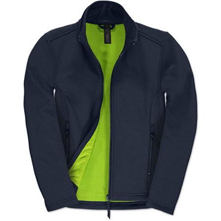 Jacket Softshell ID701 /Women in Navy Neon Green von B&C (Artnum: BCJWI63