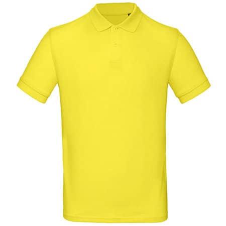 Inspire Polo / Men in Solar Yellow von B&C (Artnum: BCPM430