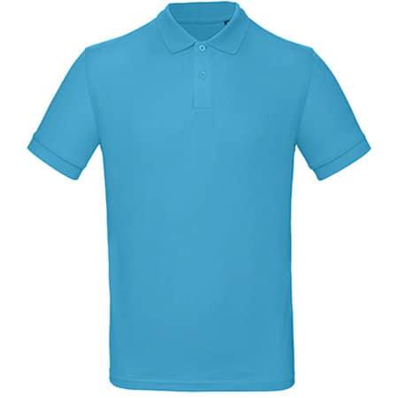 Inspire Polo / Men in Very Turquoise von B&C (Artnum: BCPM430