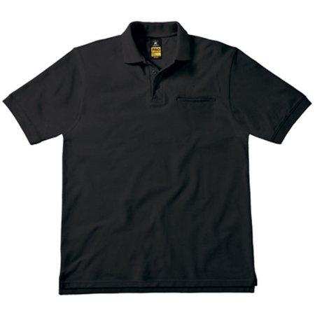 Energy Pro Polo in Black von B&C Pro Collection (Artnum: BCPUC11