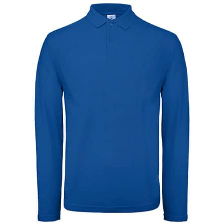 Long Sleeve Polo ID001 / Unisex in Royal Blue von B&C (Artnum: BCPUI12