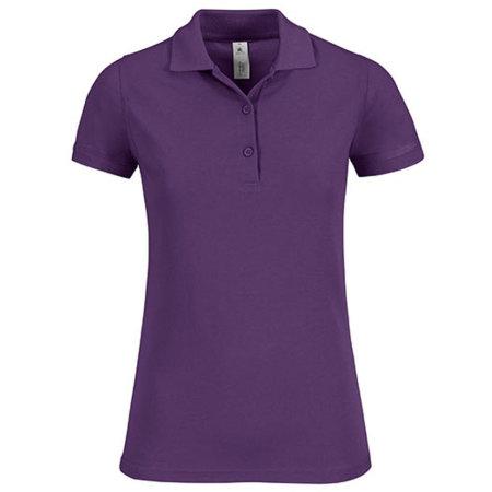 Polo Safran Timeless / Women in Purple von B&C (Artnum: BCPW457