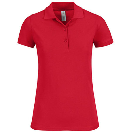 Polo Safran Timeless / Women in Red von B&C (Artnum: BCPW457