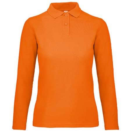 Long Sleeve Polo ID001 / Women in Orange von B&C (Artnum: BCPWI13
