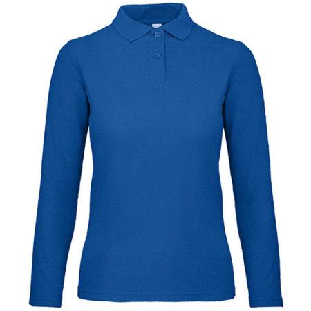 Long Sleeve Polo ID001 / Women in Royal Blue von B&C (Artnum: BCPWI13