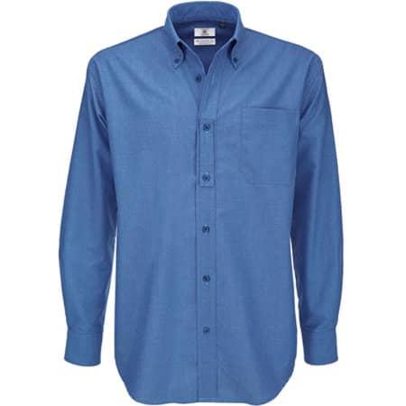 Shirt Oxford Long Sleeve /Men in Blue Chip von B&C (Artnum: BCSMO01