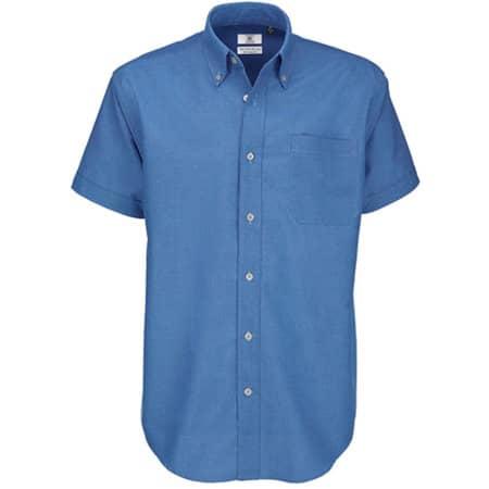 Shirt Oxford Short Sleeve /Men in Blue Chip von B&C (Artnum: BCSMO02