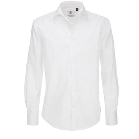 Poplin Shirt Black Tie Long Sleeve / Men in White von B&C (Artnum: BCSMP21