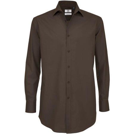 Poplin Shirt Black Tie Long Sleeve / Men von B&C (Artnum: BCSMP21