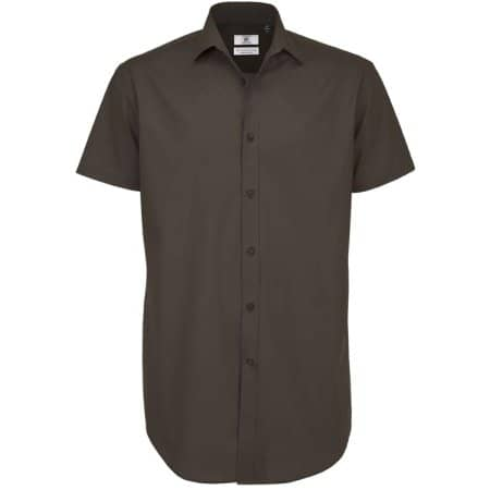Poplin Shirt Black Tie Short Sleeve / Men von B&C (Artnum: BCSMP22