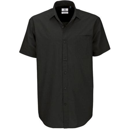 Poplin Shirt Heritage Short Sleeve / Men in Black von B&C (Artnum: BCSMP42