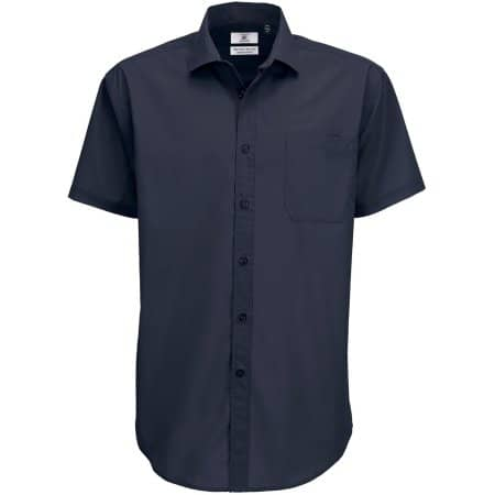 Poplin Shirt Smart Short Sleeve / Men von B&C (Artnum: BCSMP62
