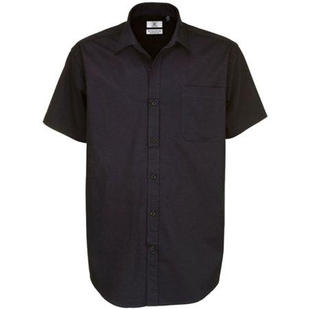 Twill Shirt Sharp Short Sleeve / Men in Black von B&C (Artnum: BCSMT82