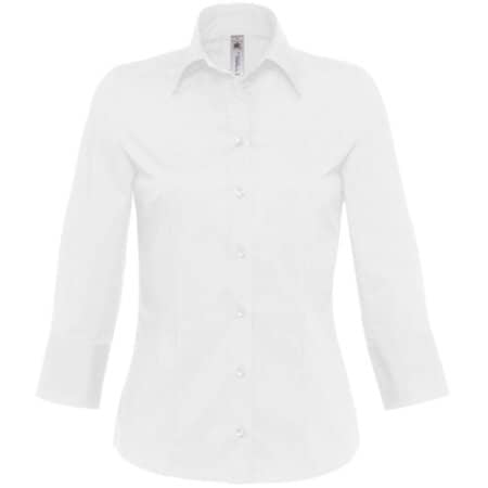 Bluse Milano / Women in White von B&C (Artnum: BCSW520